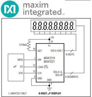 Display Driver Controller  64 LED Matrix  or 8 Digits MAX7219