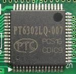 PT6302 VFD Driver for upto 16 Dot Matrix Characters and two icons per digit.