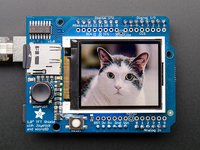 "Adafruit 1.8"" Color TFT Shield with microSD and Joystick version 1.0 (TFT driver ST7735R)"