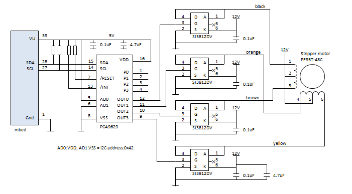 Pca9629 stepper motor controller mbed Simple stepper motor driver circuit