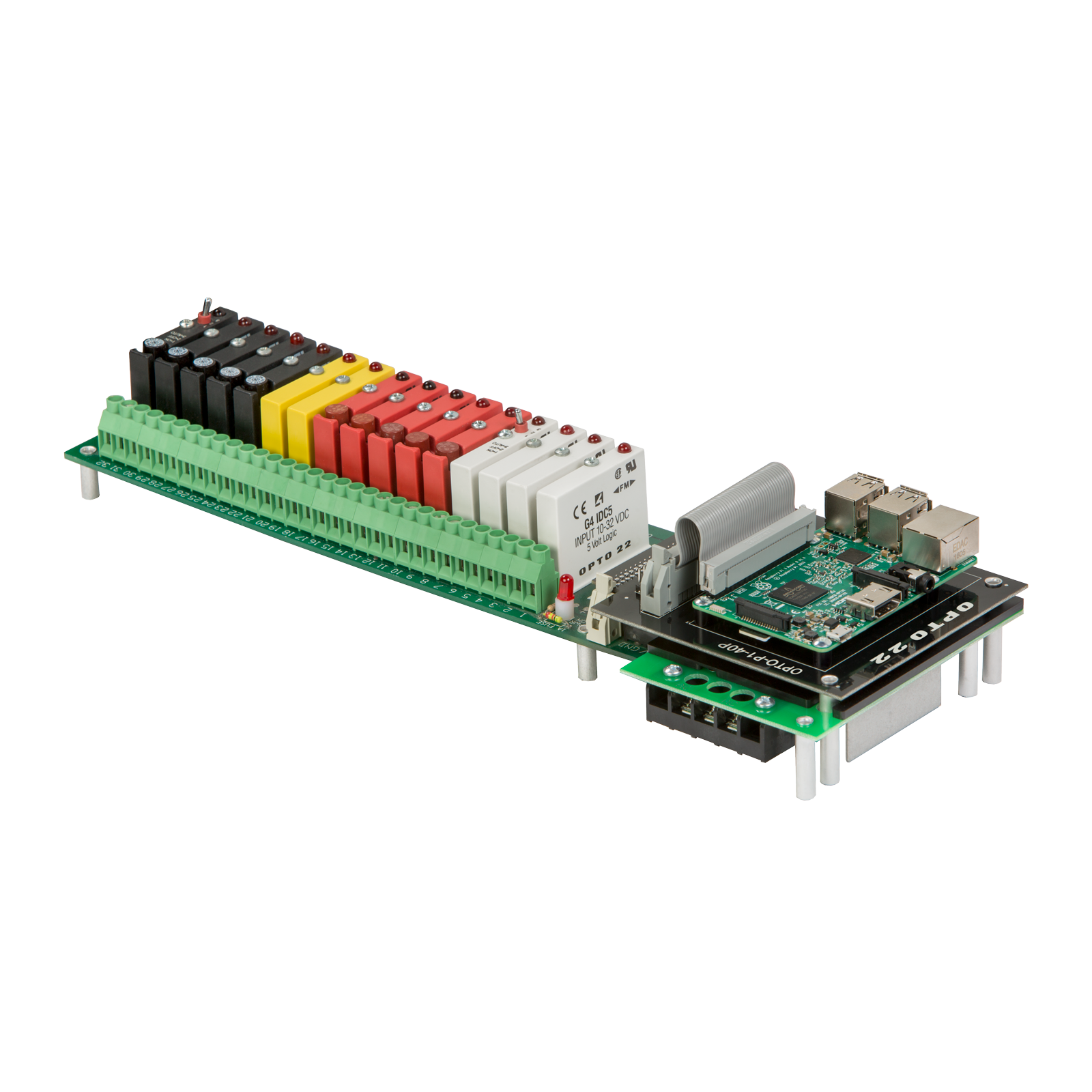 Drivers Relays And Solid State Mbed Piezo Driver Led Warning Indicator Circuit Electronic A Board With Space For Assorted Opto22 I O Modules Small Computer Such As Raspberry Pi Can Add Iot Features To Industrial Control