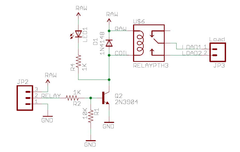 Drivers Relays And Solid State Relays Mbed - Relay Circuit With Transistor