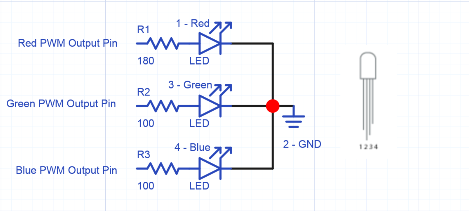 Using Rgb Leds Mbed Led Fluorescent 4 Pin Wiring Diagram For Sparkfuns Common Cathode