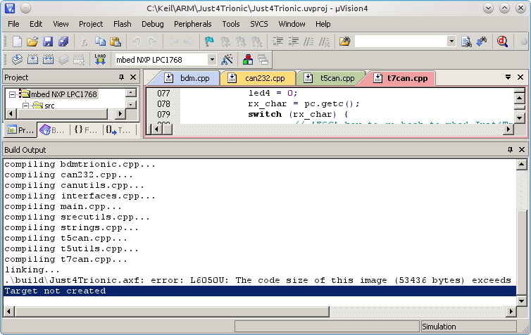 Offline Keil uVision compiling with mbed online support