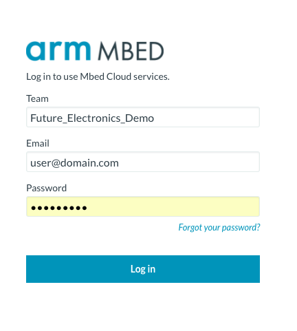 Connecting your platform to Mbed Cloud - | Mbed