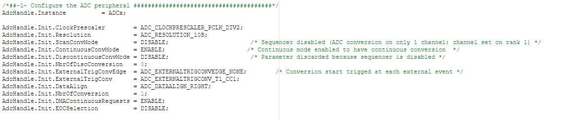 I am using DMA ADC (HAL) and only get half of the values of the