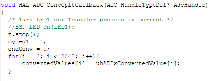 I am using DMA ADC (HAL) and only get half of the values of