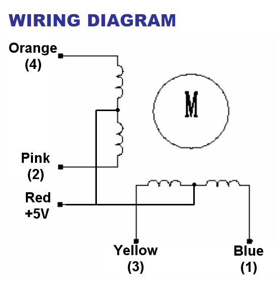 4 phase step motor