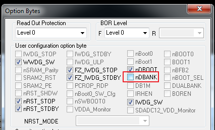 How to enable flash dual bank - | Mbed