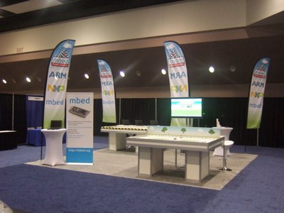 The stand, before the event