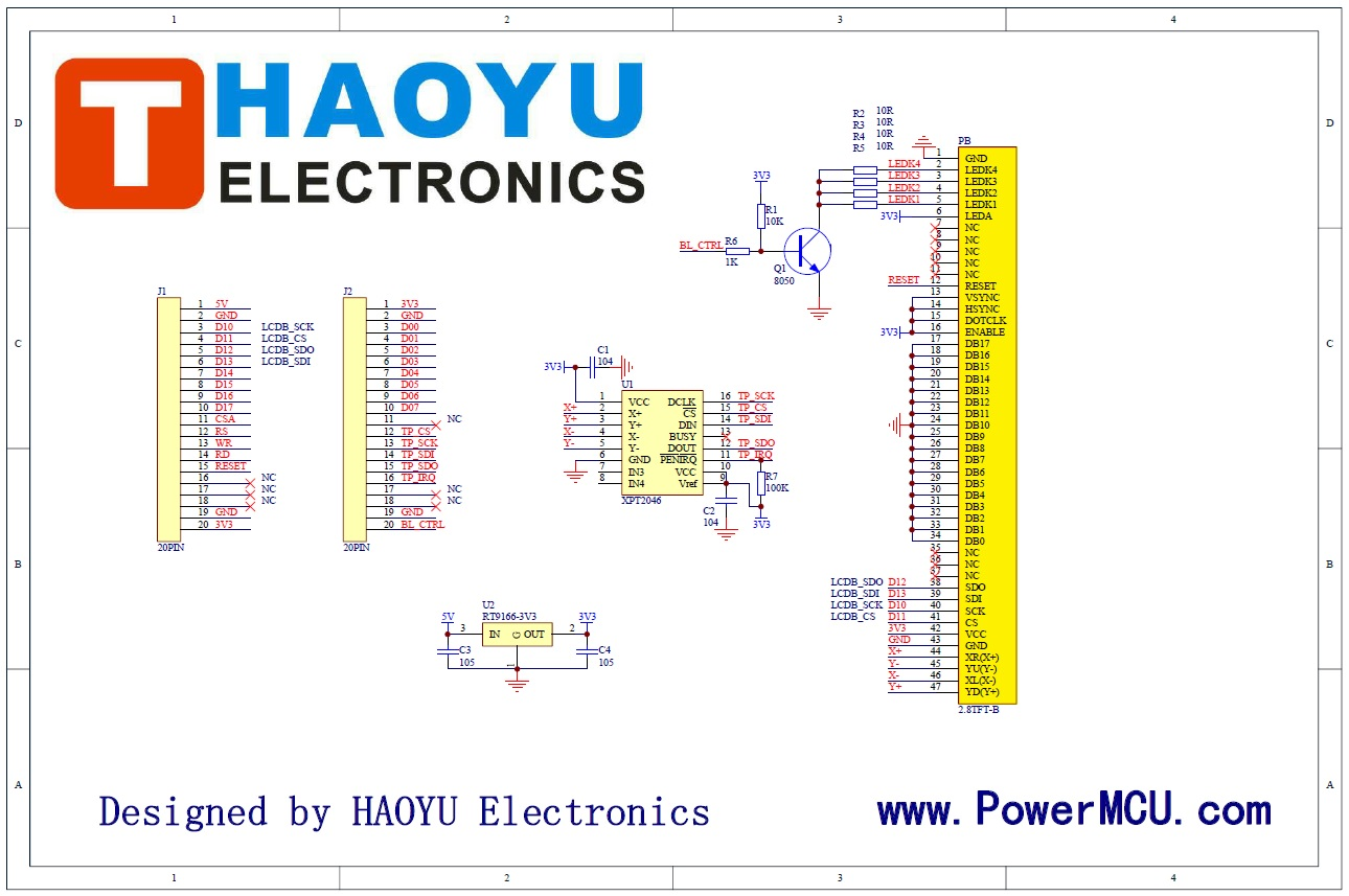 HY28A-LCDB SPI (ILI9320 + XPT2046) | Mbed