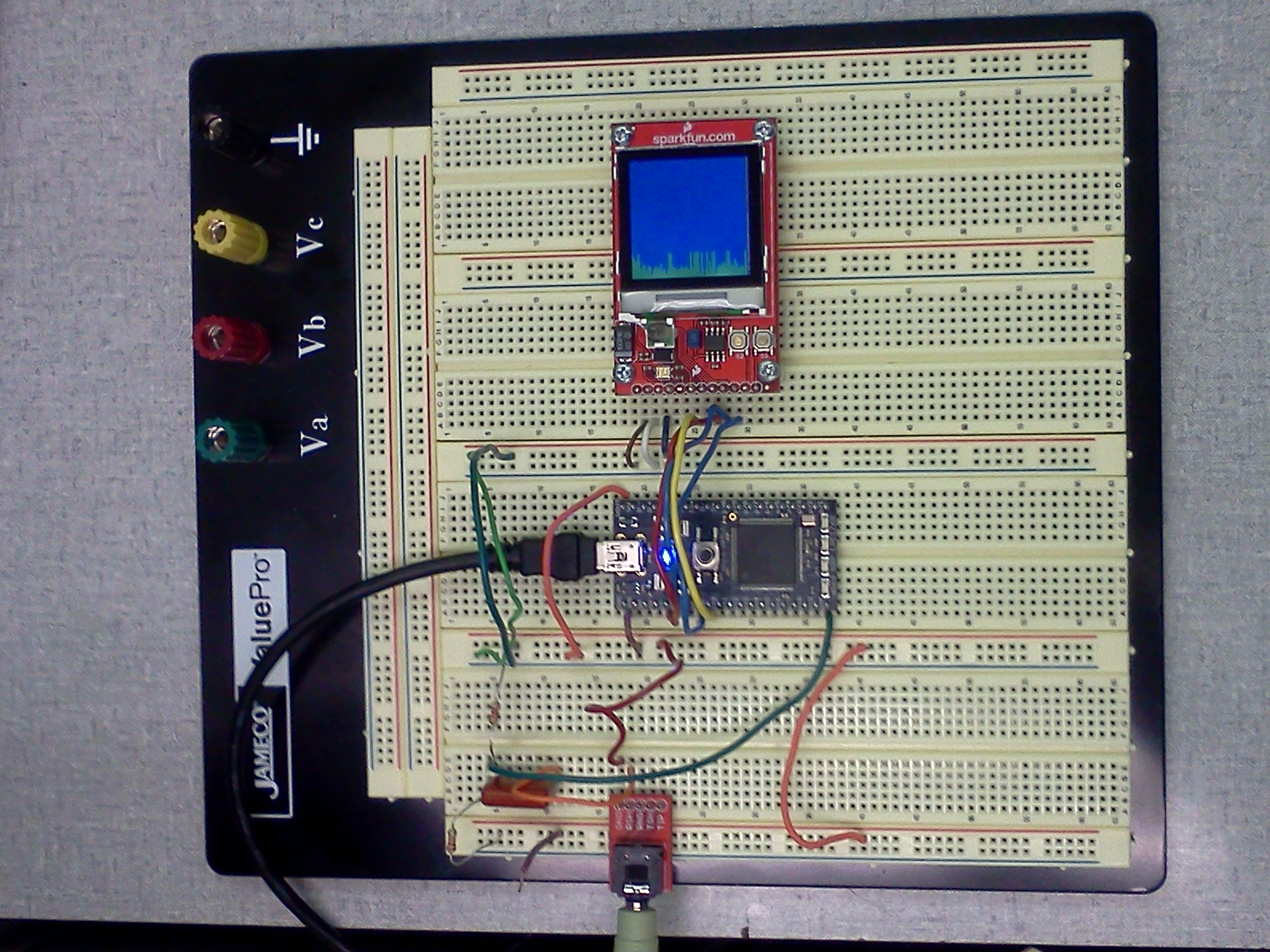 Lab 3 Mini Design Project Spectrum Analyzer With Nokia Lcd Mbed Audio Circuit Electronic