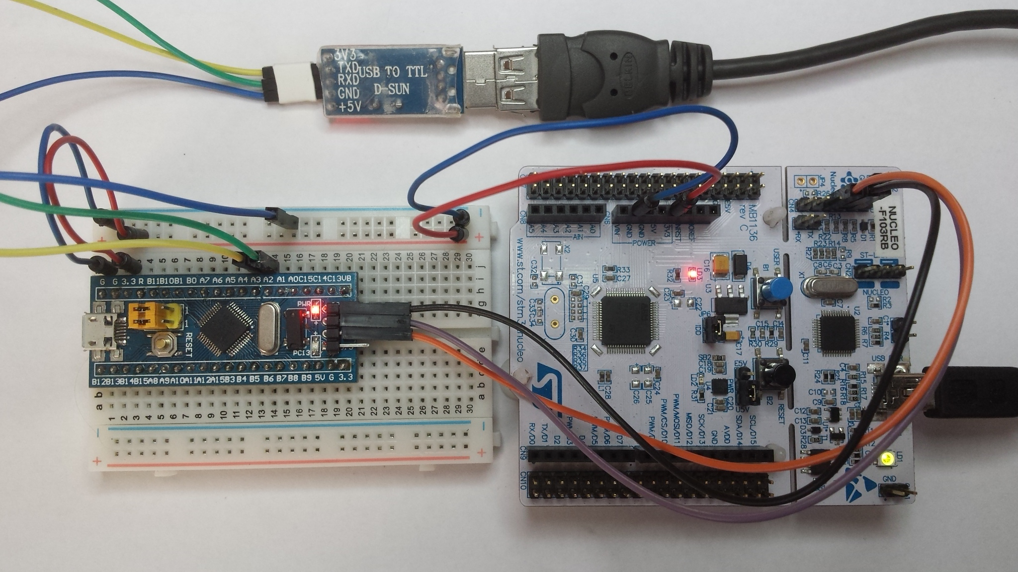 STM32F103C8T6_Hello - Using low cost Blue Pill
