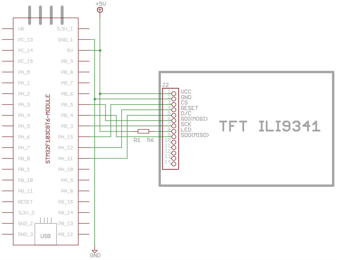 stm32f103c8t6 ili9341 driving ili9341 tft display with