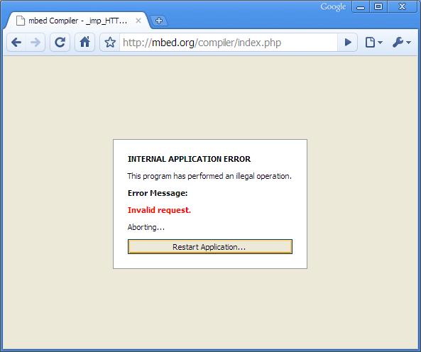 Online Compiler Crash Mbed