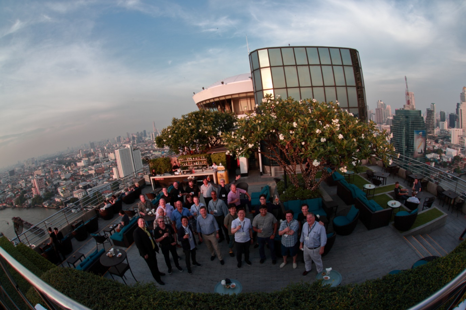 Gathering of several key LwM2M contributors on the roof top of the Hilton Bangkok Hotel