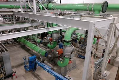 Pipes running the snowmelt system