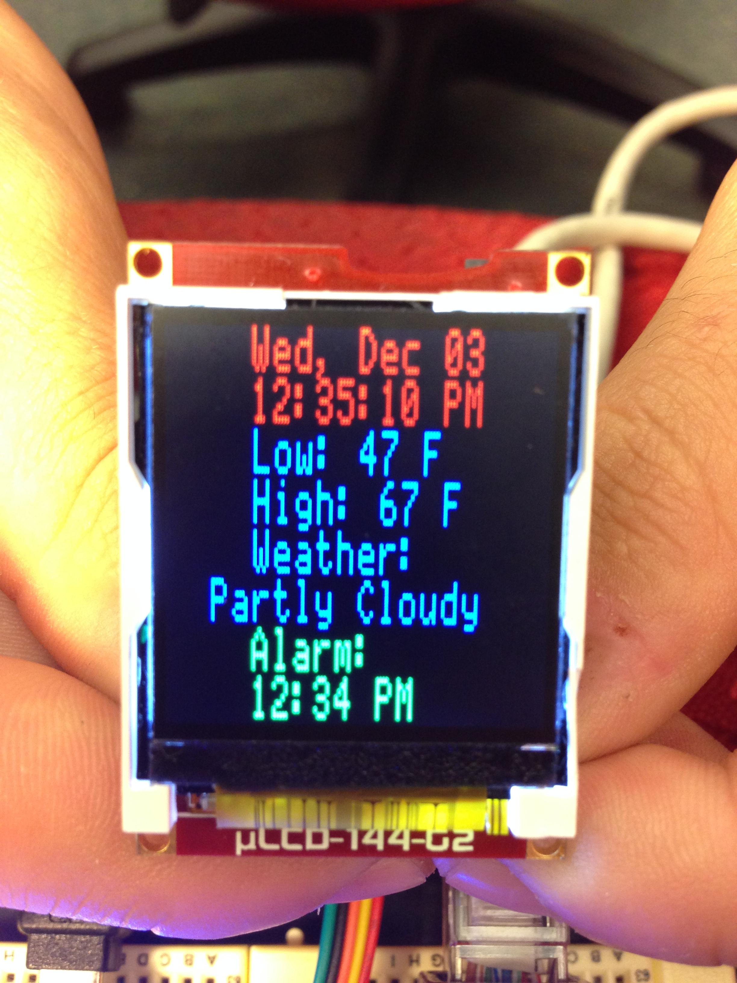 Iot Mbed Smart Alarm Clock Http Wwwschematicdiagramcom Electronicdigitalclockhtml Display