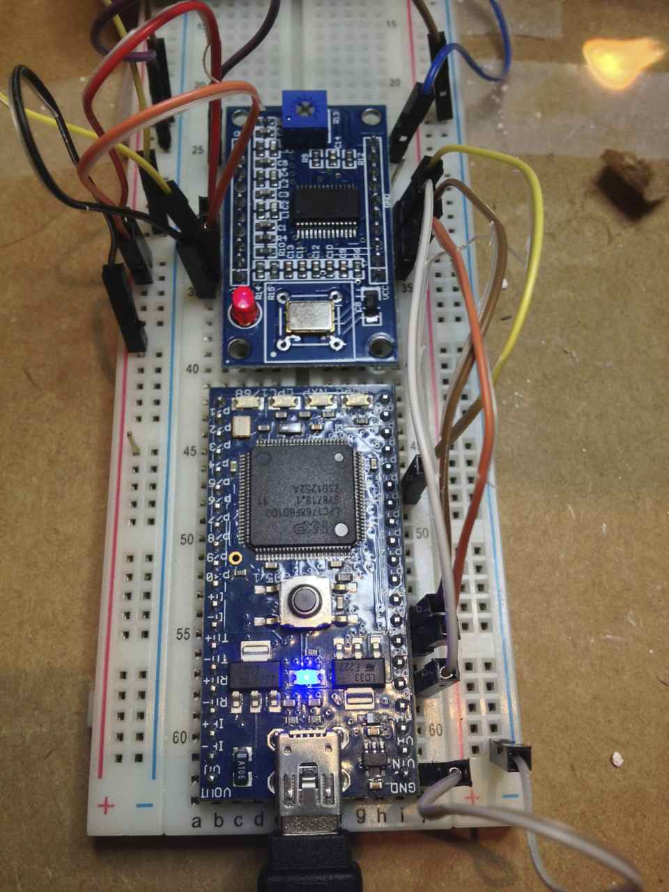 AD9850 function generator SPI driver - This is a basic MBED