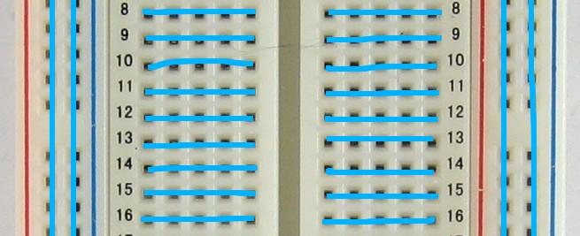 Breadboard connections¶  sc 1 th 143 : breadboard wiring - yogabreezes.com