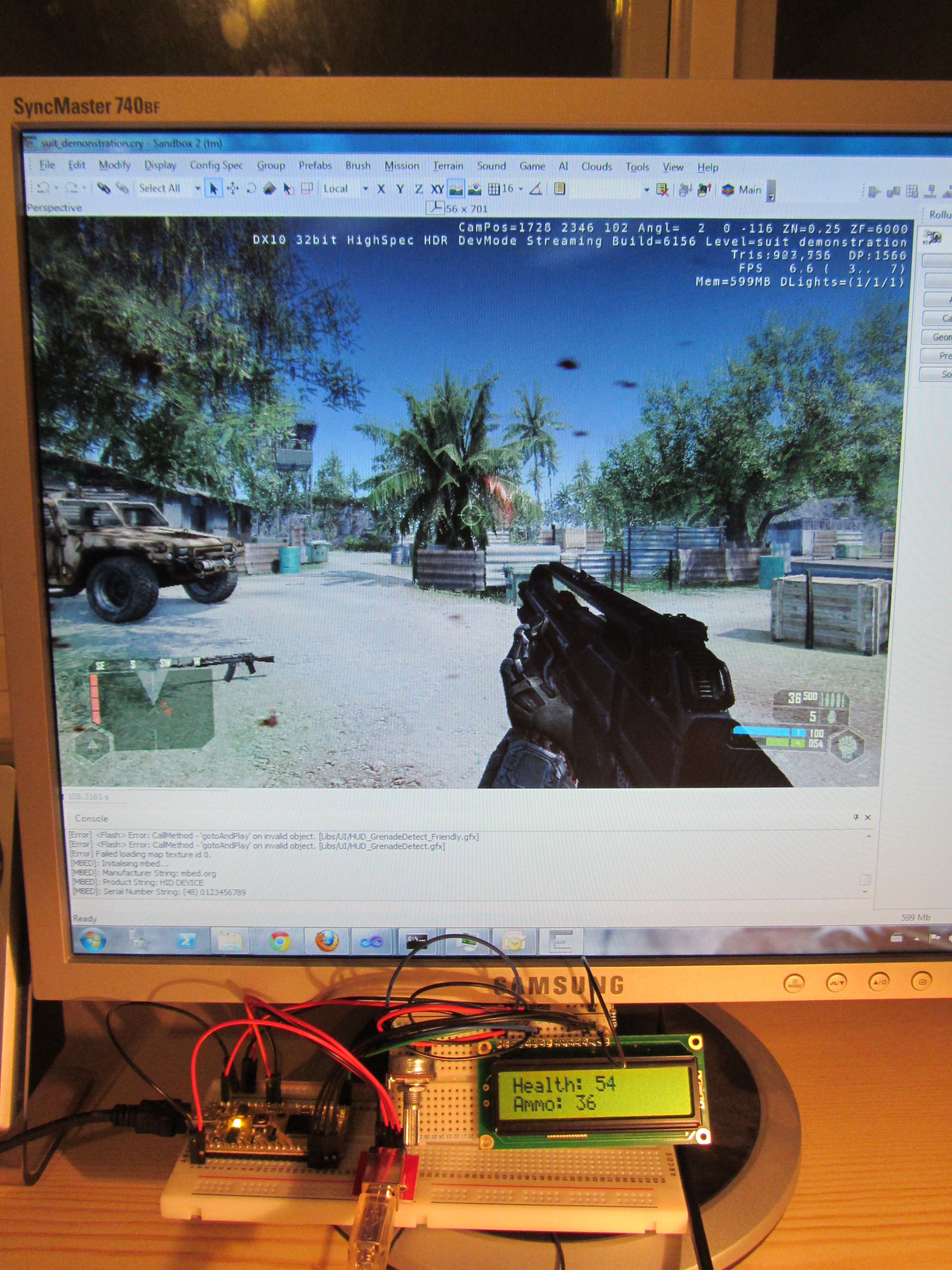 mbed HUD for Crysis | Mbed