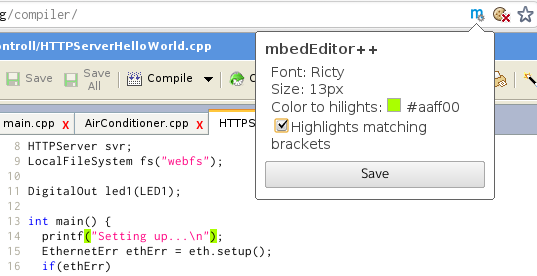 Change editor font in chrome | Mbed