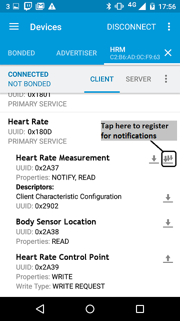 mbed-os-example-ble-HeartRate - This application transmits a