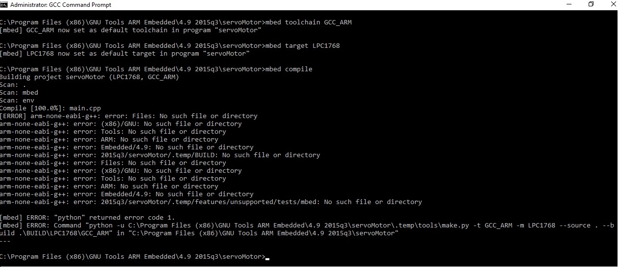 Problem with the mbed CLI compiler - Question   Mbed